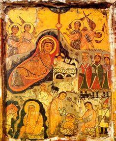 The Nativity icon, St Catherine's Monastery, 7th century AD.