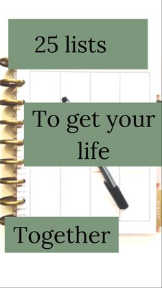 25 lists 25 lists 25 lists to get your life together<br> Life Binder, Life Planner, Happy Planner, 2015 Planner, Blog Planner, Get Your Life, Organize Your Life, John Maxwell, Planners