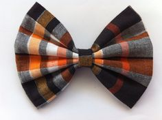 October Plaid Hair Bow by BewitchedHairBows on Etsy, $4.00