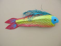 Fantasy Fish painted on palm frond