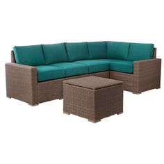 Threshold™ Heatherstone Wicker 6-Piece Patio Sectional Seating Furniture Set
