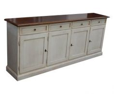 CREDENZA MADIA IN LEGNO SHABBY CHIC BIANCA DECAPE E PIANO NOCE ART 11/FSN E Piano, Sideboard Buffet, Food Inspiration, Sweet Home, Cabinet, Storage, House, Furniture, Country