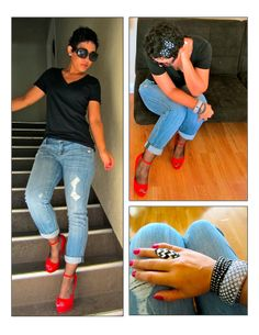 What I Wore | Red Pumps