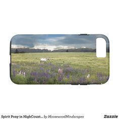 Spirit Pony in HighCountry Lupine Field Phone Case