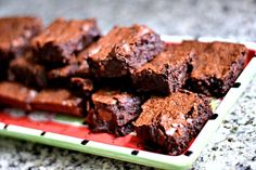 Salted Fudge Brownies http://www.peanutbutterrunner.com/salted-fudge-brownies-the-best-brownie-recipe-ever/