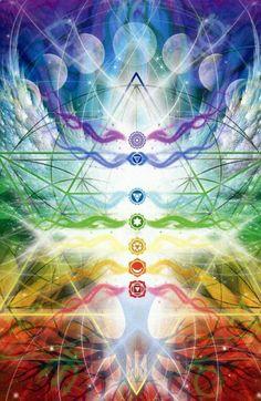 Chakra healing, through light and emeries.