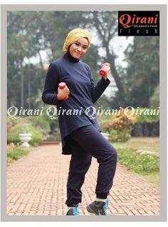 Beli Baju Sport Wanita Olahraga Qirani Fresh QDF-08 Biru Dongker dari Aprilia Wati agenbajumuslim - Sidoarjo hanya di Bukalapak