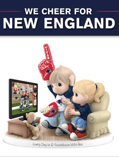 A first! Limited-edition Precious Moments figurine celebrates Patriots and your sweetheart.