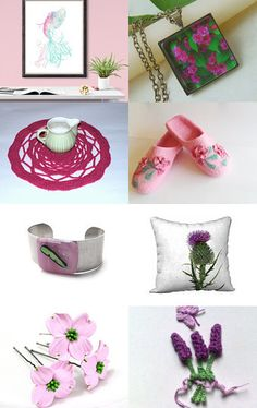Pink and green by Tetyana on Etsy--Pinned+with+TreasuryPin.com