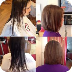 Check out this before and after by TAMARA one of our future stylists in our staff training program. She needs cut models every Wednesday so if you're interested, shoot us an email at info@red7salon.com 💁🏼 #StaffTraining #BeforeAndAfter #LongHair #ShortHair #TransformationThursday #TBT #ThrowbackThursday #ChicagoStylist #Beauty #Glamour #Hair #HappyHairHappyLife #HappyClient #RazorTextured #Evanston #WeLoveEvanston #Chicago #RED7CHANGEMAKERS