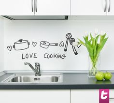 Do you love spending time in the kitchen? Love cooking? Why not have this sticker on your kitchen wall while you cook your favourite dish.