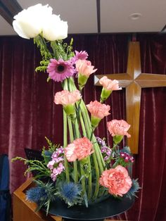 教會插花服侍Church flower arrangement