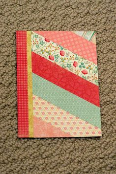 photo tutorial from my happy life: step-by-step cards from a 6x6 pad ... look of a strip quilt ... luv these papers ..