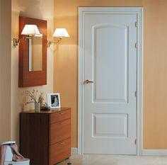 Puerta de interior lacada en blanco, modelo Altea