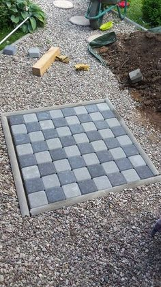 Picture of Garden chess board - sidewalks and lawn backyard stuff