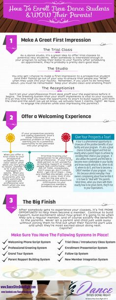 How to enroll new students to your dance studio and WOW their parents!