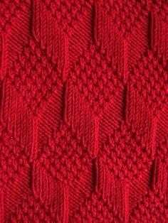 Moss Diamond and Lozenge Pattern - Treasury of Knitting Patt.- Moss Diamond and Lozenge Pattern – Treasury of Knitting Patterns Moss Diamond and Lozenge Pattern – Treasury of Knitting Patterns - Knitting Stiches, Knitting Charts, Baby Knitting Patterns, Free Knitting, Crochet Stitches, Stitch Patterns, Crochet Patterns, Afghan Patterns, Knitting Needles