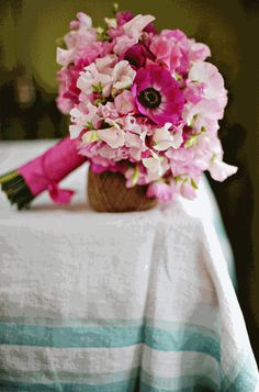 Sweet Peas and Anemones