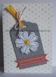 The new Scalloped Tag Topper punch is great for cards too! Use the Watercolor Wonder Note card for a quick card! http://madewithpaper.files.wordpress.com/2014/01/watercolor-wonder-flower-shop.jpg