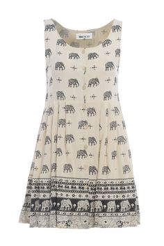 Elephant sun dress {Fabric Boutique}