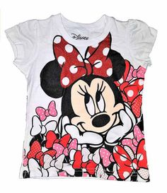 Disney Minnie Mouse big face in bows t-shirt