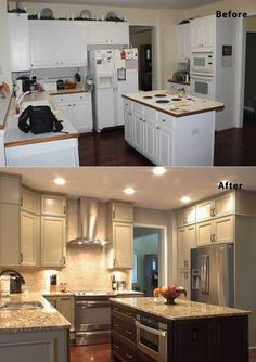 Kitchen Remodel Ideas - Remodeling your kitchen doesn't have to cost a fortune. These smart kitchen remodels design are full of ideas for quick, easy, and..  #KitchenRemodeling