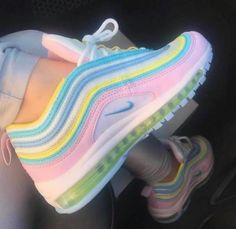 Nike Shoes OFF!> Nike Air Max 97 Rainbow Sneakers from charmvip. Shop more products from charmvip on Wanelo. Moda Sneakers, Sneakers Mode, Girls Sneakers, Best Sneakers, Sneakers Fashion, Fashion Shoes, Shoes Sneakers, Sneakers Adidas, Kickers Shoes