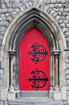 doors by quenalbertini - Red door by AAron Metcalfe-via flickr...