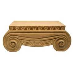 Furniture::Coffee Tables::Thalia Wood Carved Coffee Table