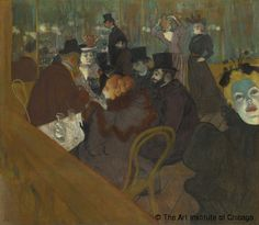 Henri de Toulouse-Lautrec,Au Moulin Rouge,© The Art Institute of Chicago