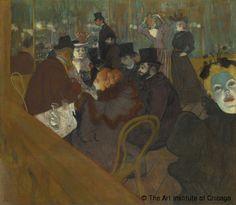 Musée d'Orsay. Splendeurs et misères. Images de la prostitution, 1850-1910 | Henri de Toulouse-Lautrec, Au Moulin Rouge © The Art Institute of Chicago
