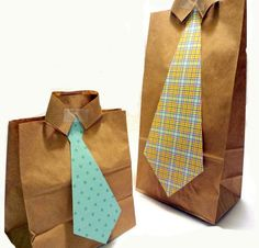 Great Father's Day gift idea! These goodie bags are so easy to make and can be filled with treats, notes, or any other kind of fun surprise for Dad!