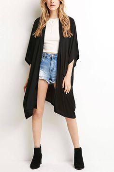 Evans Mink Wiggle Stitch Longline Cardigan | cardigan e kimono ...