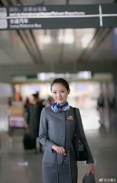 Flight Attendant, Pretty Woman, Lady, Silk Scarves, Beautiful, Cabin, Style, Swag, Cabins