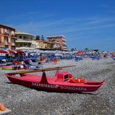 Day at the beach, Bordighera, Italy
