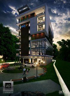 **** HOTEL: архитектура, зd визуализация, минимализм, гостиница, мотель, 6-12 эт…