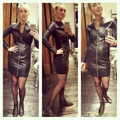 In love with the dress #goosecraft #realleather #dress #sexy #chique #classy #partydress