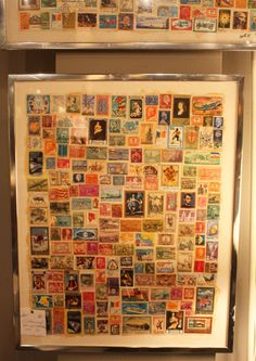 framed stamp collection.... What to do with grandpas old stamp collection