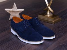 Navy Men's Genuine Leather Shoes - - FOOTWEAR - Men's shoes made of genuine leather with extra light sole. Navy Man, Men S Shoes, Leather Shoes, Casual Shoes, Oxford Shoes, Dress Shoes, Vans, Footwear, Lace Up