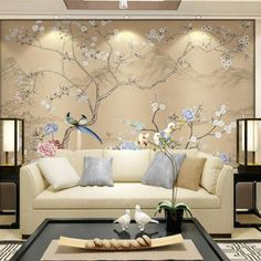 Wallpaper Murals for Walls Wall Murals – A Wall in Every Room Wallpaper Murals for Walls. They want to make their living room an… Elegant Home Decor, Elegant Homes, Unique Home Decor, Pastel Living Room, Living Room Decor Eclectic, Wall Murals, Wallpaper Murals, Wall Art, Black And White Living Room
