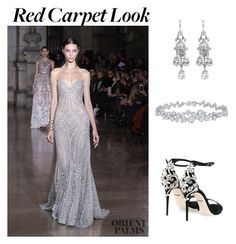 """""""red carpet - Georges Hobieka"""" by the-expensive-minimalist on Polyvore featuring Georges Hobeika, Dolce&Gabbana and Harry Winston"""