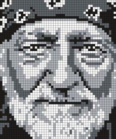 Willie_Nelson_(Square) by Maninthebook on Kandi Patterns