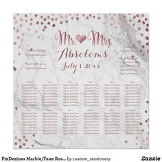 Shop PixDezines Marble/Faux Rose Gold Specks/Seating Poster created by custom_stationery. Personalize it with photos & text or purchase as is! Seating Chart Wedding, Seating Charts, Custom Stationery, Infographic Templates, Poster Making, Custom Posters, Custom Framing, Note Cards, Rose Gold