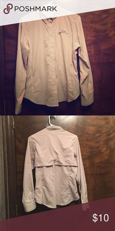 Columbia PFG Fishing Shirt Light tan color. Sleeves can be rolled up to three quarter Columbia Tops Button Down Shirts
