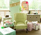 Vintage Bridal Shower in Mint and Peach