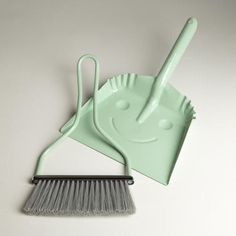 One of my favorite discoveries at WorldMarket.com: Mint Smiley Dustpan
