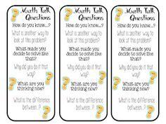 math talk bookmarks