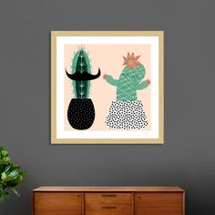 Discover «Mrs and Mr succulent», Numbered Edition Fine Art Print by susana costa - From 18€ - Curioos