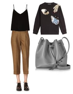 """""""😍"""" by indahhalit on Polyvore featuring Michael Kors, Raey, Alexander McQueen and Lancaster"""