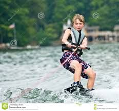 Also showing a young kid wakeboarding - youth is the future